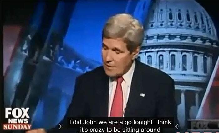 John Kerry interviewé par Fox News.