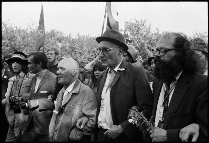 Allen Ginsberg, William Burroughs et Jean Genet